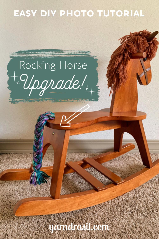 Rocking Horse Upgrade Yarndrasil Free Diy Tutorial