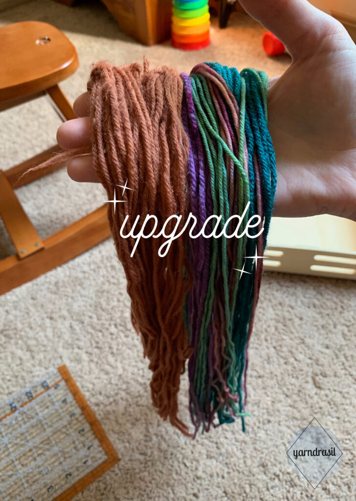 Comparing old yarn to new yarn