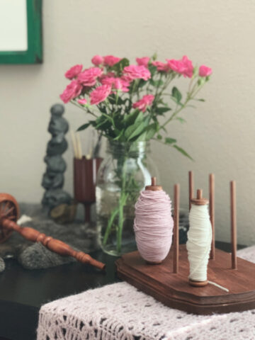 DIY Bobbin Holder Project for Yarn Lovers