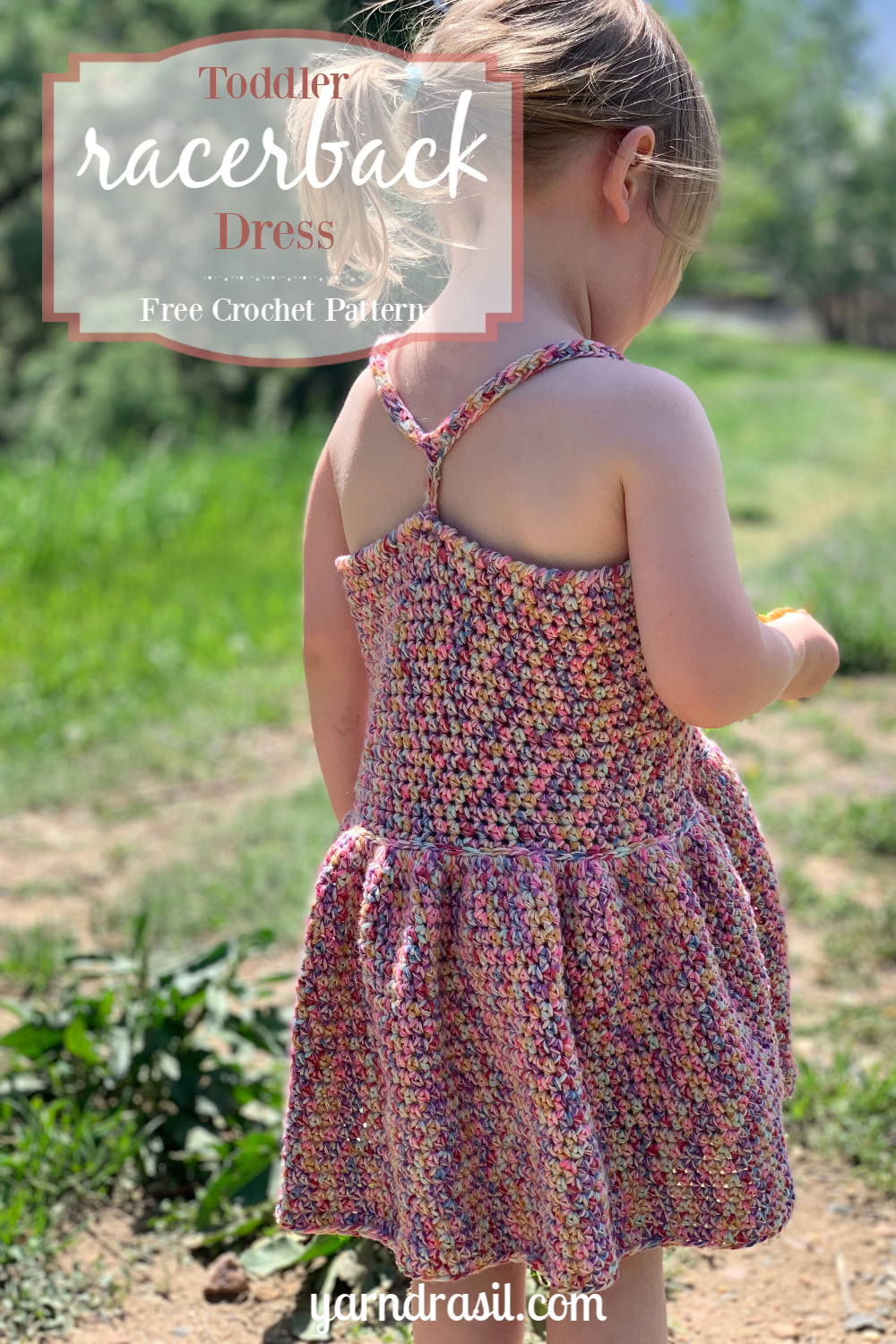Toddler Racerback Dress | Free Crochet Dress