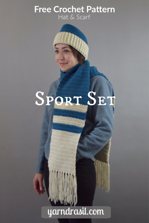 Sport Set, Vintage Reproduction Crochet Pattern
