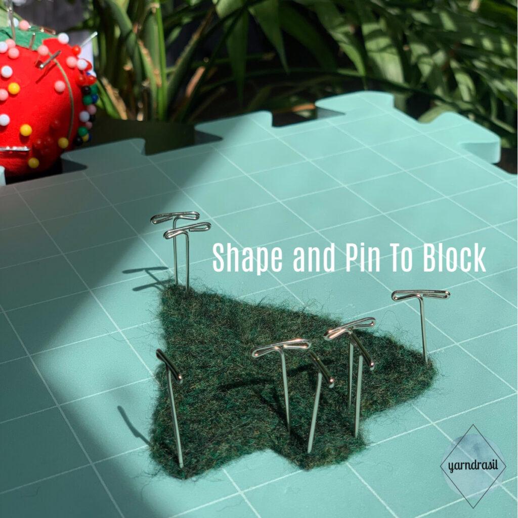 Pin to block