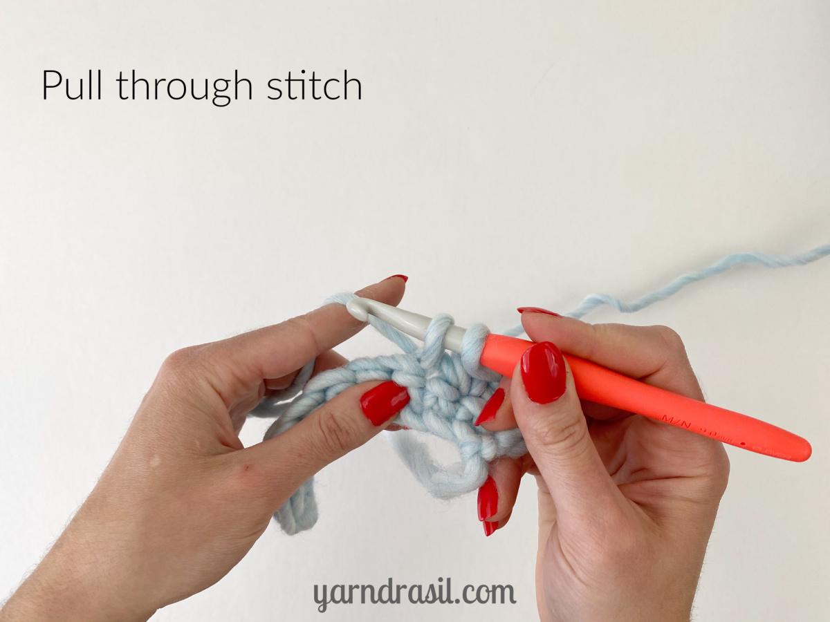 Pull through stitch