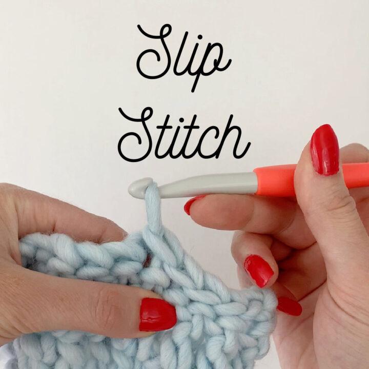 Close up of slip stitch