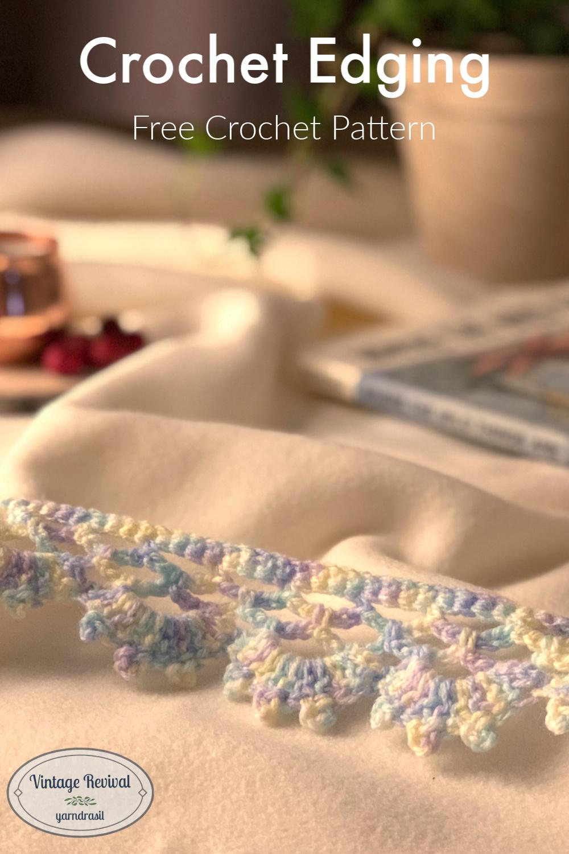 Edging E, Vintage Reproduction Crochet Pattern