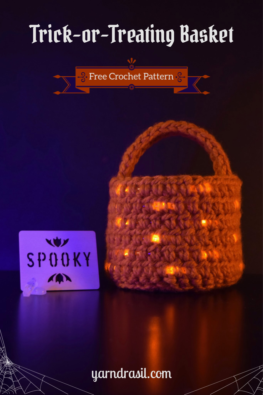 LED Trick-or-Treating Basket for Halloween