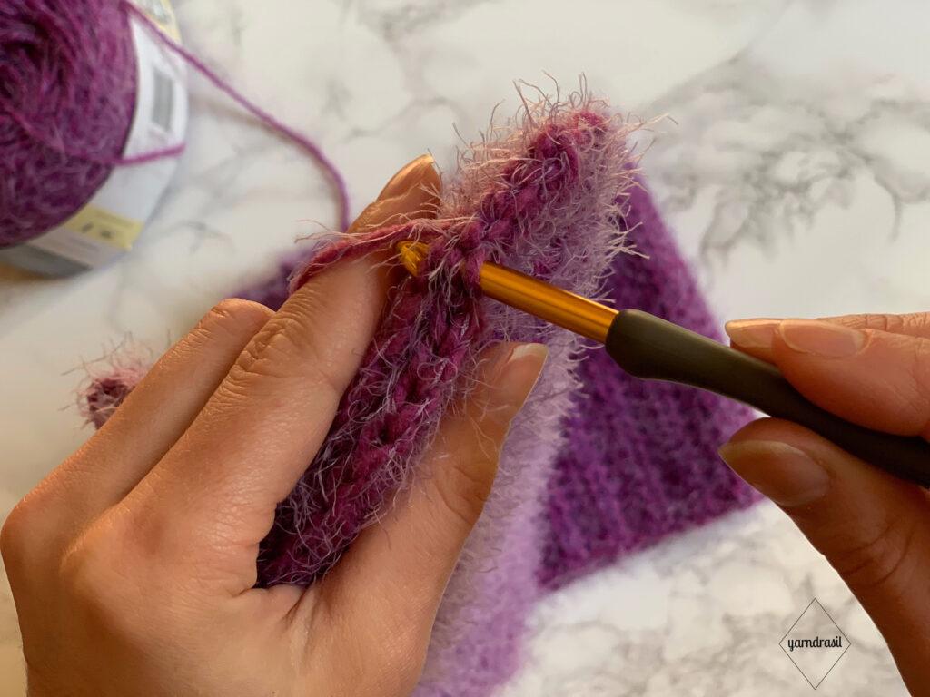 Slip stitching ends together