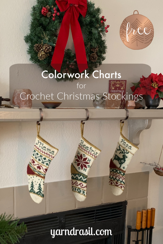 Colorwork Charts for Crochet Christmas Stockings