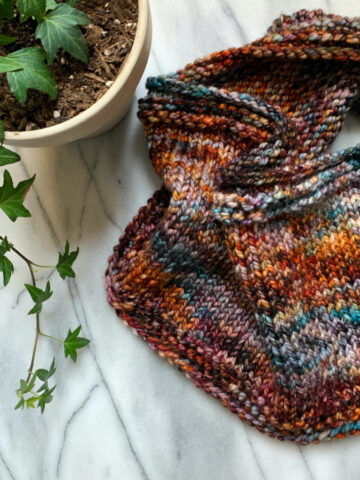 Swatch Out Knitted Cowl