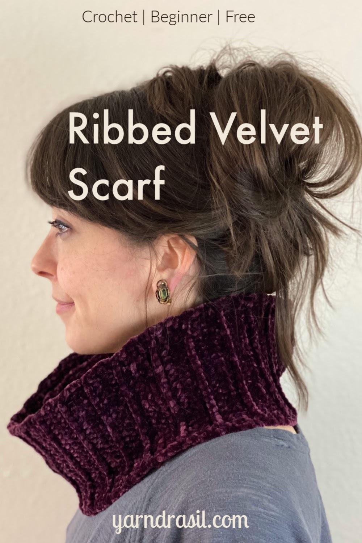 Ribbed Velvet Scarf