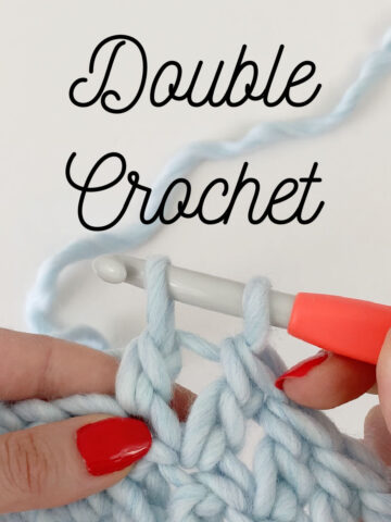 Close up of Double Crochet stitch