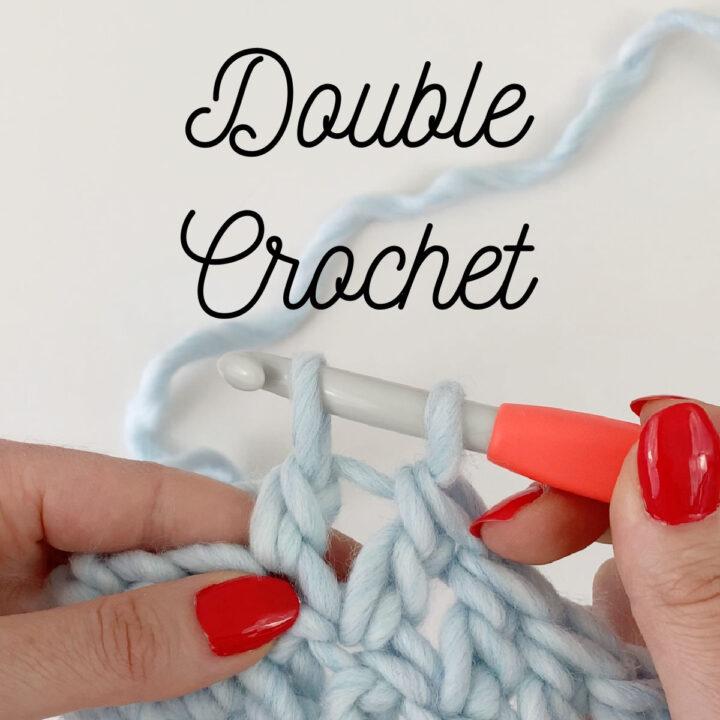 Close up of Double Crochet stitch