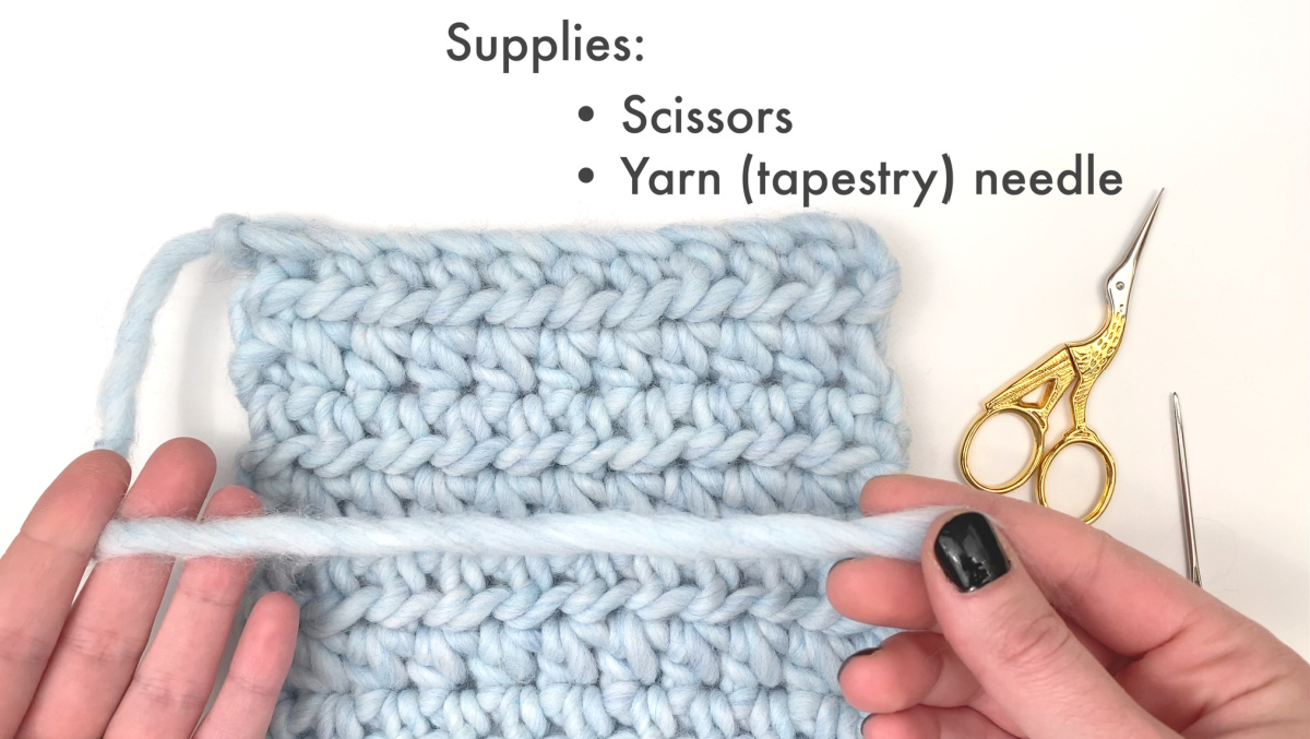 Supplies needed for weaving in ends