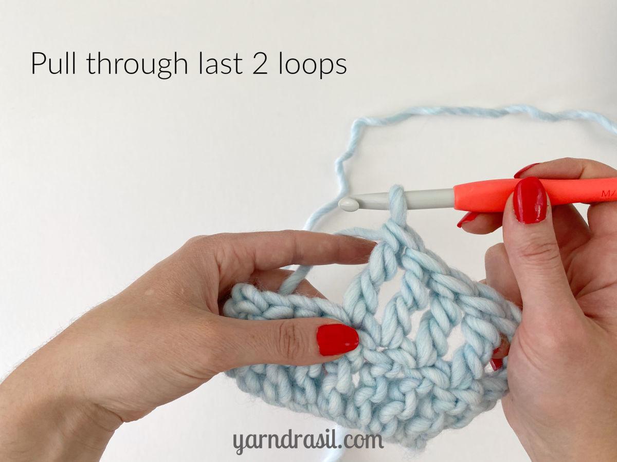 Pull through last 2 loops