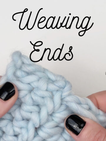 Weaving in your ends