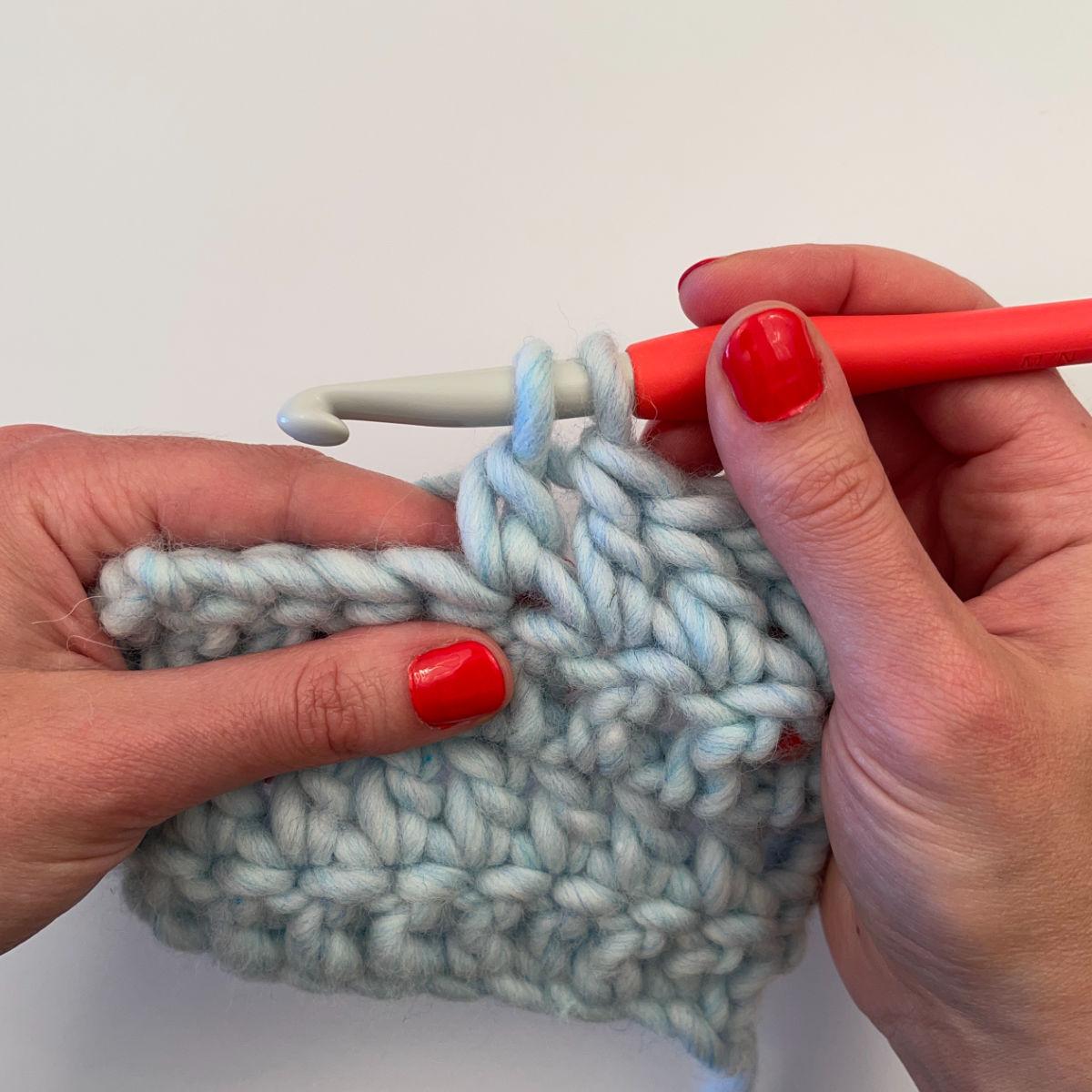 Step 4: 2 loops remain on hook